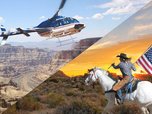 WA2 Ultimate Grand Canyon Western Experience w/ Helicopter Tour, Horseback Ride & Wild West Experience Photo 1